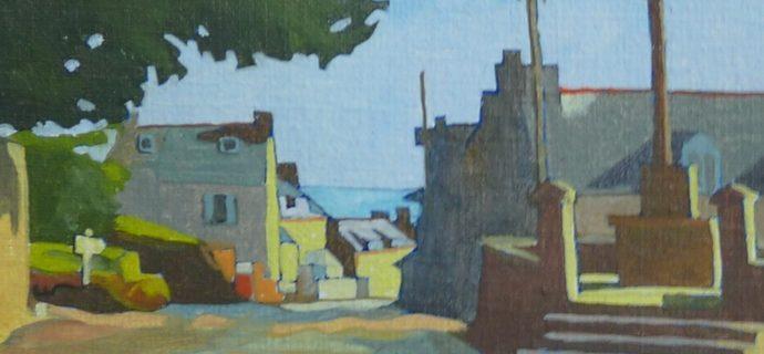 Peinture du Bourg de Tréveneuc
