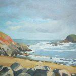 Peinture de la plage de Saint-Marc à Tréveneuc