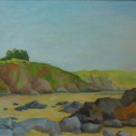 Peinture de la plage de Port-Goret à Tréveneuc