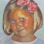 Portrait d'enfant en peinture