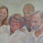 Peinture de portraits en famille
