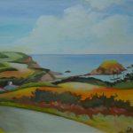 Peinture de la vue route de Saint-Quay Portrieux